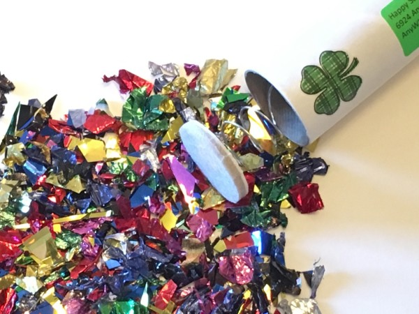 Saint Patrick's Day Spring-Loaded Confetti Bomb