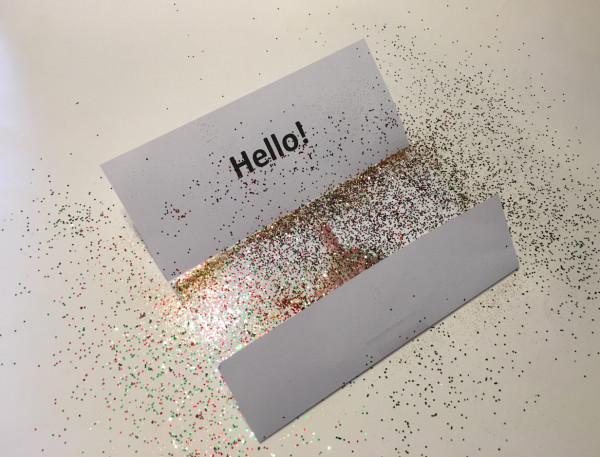 Middle finger prank with glitter